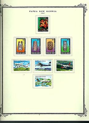 Papua New Guinea 1987 lot on page as seen LMM (A666)