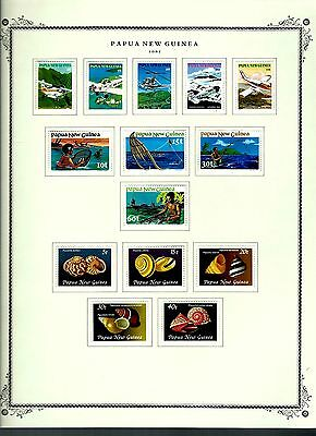Papua New Guinea 1981 lot on page as seen LMM (A655)