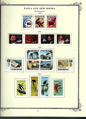 Papua New Guinea 1972 lot on page as seen LMM (A640)