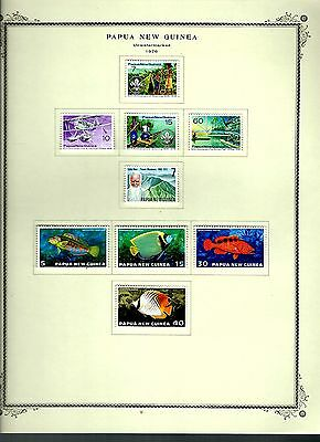 Papua New Guinea 1976 lot on page as seen LMM (A646)