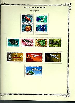 Papua New Guinea 1972 lot on page as seen LMM (A639)