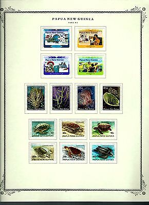 Papua New Guinea 1983 lot on page as seen LMM (A658)