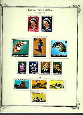 Papua New Guinea 1974 lot on page as seen LMM (A643)