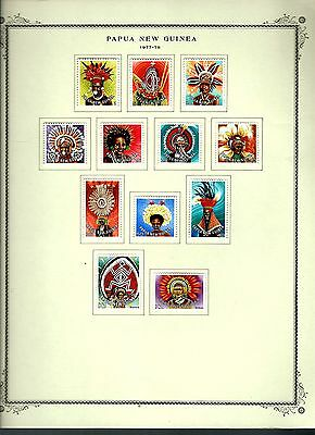 Papua New Guinea 1977 lot on page as seen LMM (A647)