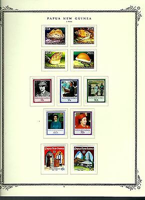 Papua New Guinea 1986 lot on page as seen LMM (A662)