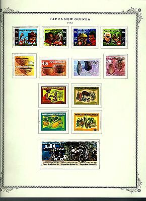 Papua New Guinea 1982 lot on page as seen LMM (A656)