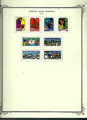 Papua New Guinea 1979 lot on page as seen LMM (A652)