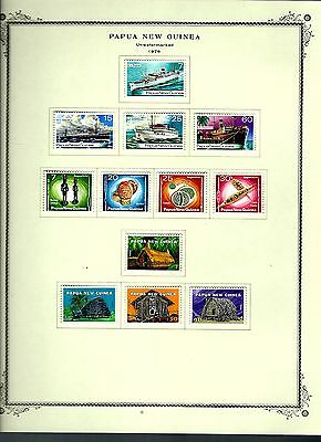 Papua New Guinea 1976 lot on page as seen LMM (A645)
