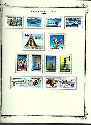 Papua New Guinea 1984 lot on page as seen LMM (A659)