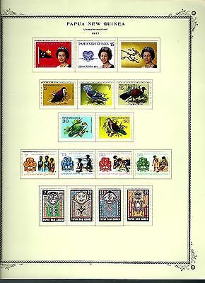 Papua New Guinea 1977 lot on page as seen LMM (A648)