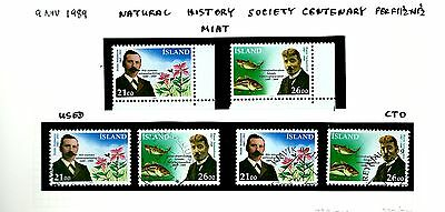 Island Iceland group on page as seen 1989 MNH & used (A748)