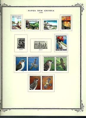 Papua New Guinea 1985 lot on page as seen LMM (A660)