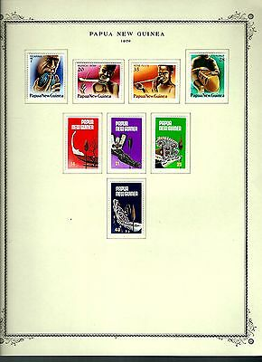Papua New Guinea 1979 lot on page as seen LMM (A650)