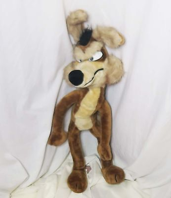 Vintage Wile E Coyote Large Plush Stuffed Animal 34'' Tall 1971 Looney Tunes