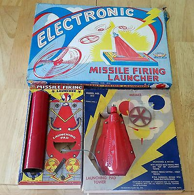 Vintage Jim Prentice The Electric Game Co. Electronic Missile Firing Launcher!