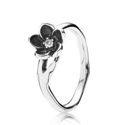 New Boxed Pandora Silver Mystic floral Ring 190918CZ Size 54 Genuine