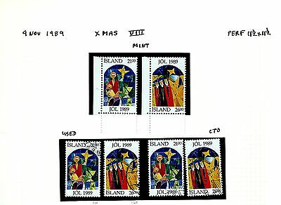 Island Iceland group on page as seen 1989 MNH & used (A747)