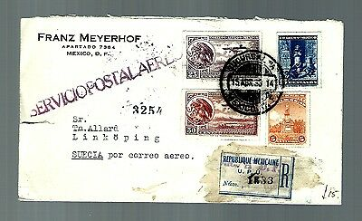 Early cover air mail mexico to Switzerland (x319)