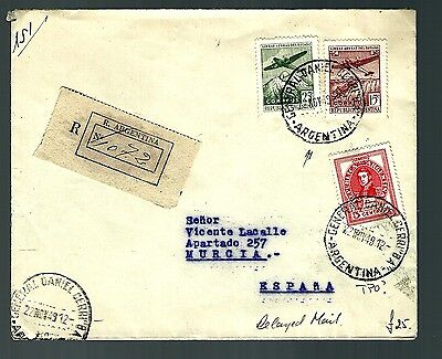 Argentina registered flight cover air mail aero postal possible TPO ? (x171)