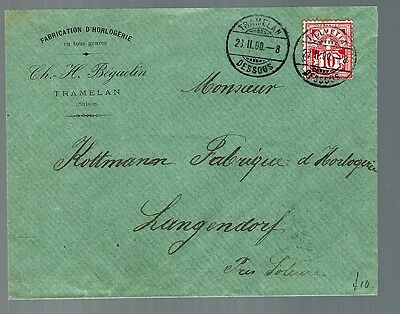 Latvia early cover Tramelan Dessous cancel (x102)