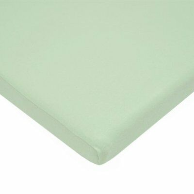 American Baby 100pct Cotton Value Jersey Knit Fitted Cradle Sheet Celery, New