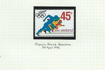 New Zealand MNH 1992 Olympic Games - Barcelona, Spain (A047)