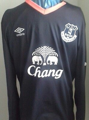 Umbro Mens Gents Football Everton Away SHORT  Sleeve Jersey Top size L