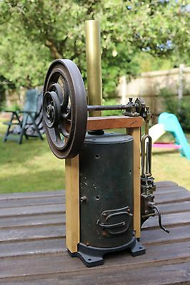 Victorian French Radiguet Vertical Live Steam Engine Rare Project