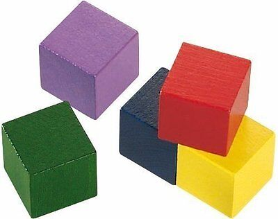 HABA Baby's First Basic Block Set 12 Colorful Wooden Cubes Made in Germany, New