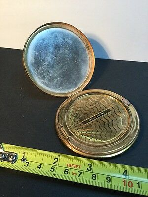 Antique Powder Puff Compact Make Up