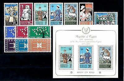 [51653] Cyprus 1963 Complete Year Set with Scouts Miniature sheet MNH