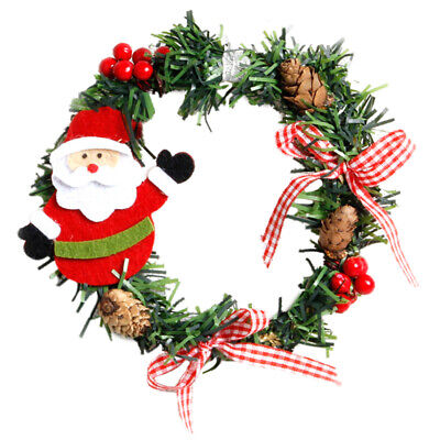 2Pcs Plastic Christmas Wreath Garland Christmas Decorations for Home Pine S PF