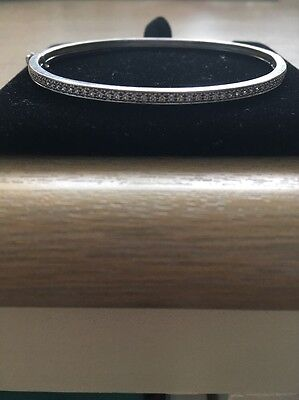 Beautiful H Stern 18Ct Diamond White Gold Bangle