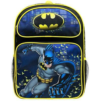 "DC COMICS SUPER GIRL BATGIRL BATMAN LOGO School 16/"" Backpack Kids Large bag BKPK"