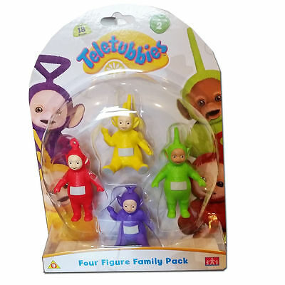 New Teletubbies 4 Figure Family Pack Set 2