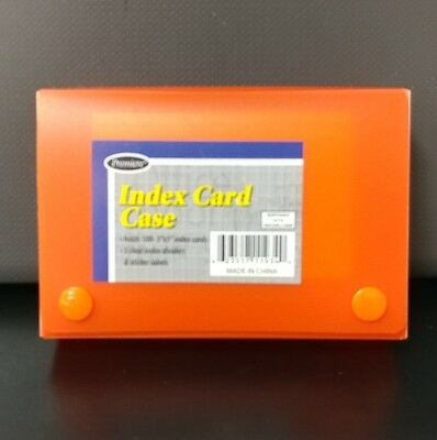 Index Card Case, Holds 100 3 x 5 Cards, Polypropylene, Assorted