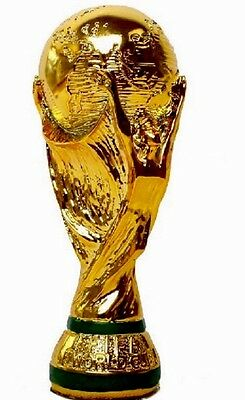Football World Cup Replica Trophy Full size 36cm In Brown Box