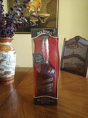 Rare Jack Daniel's Bicentennial 1796-1996 Whiskey Bottle in Box with Hang Tag