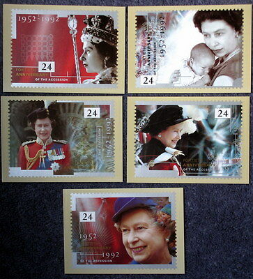 Royal Mail Stamp Postcard Series PHQ 141 The 40th Anniversary of The Accession