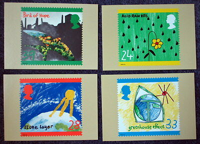 Royal Mail Stamp Postcard Series PHQ 146 The Green Issue Set of 4