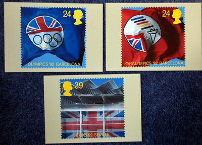 Royal Mail Stamp Postcard Series PHQ 143 Europa '92 Part Set of 5
