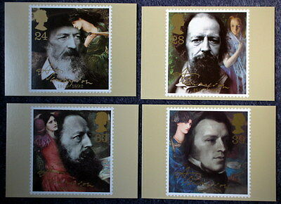 Royal Mail Stamp Postcard Series PHQ 142 Tennyson Set of 4