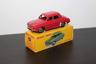 Dinky Toys Originale Renault Dauphine  Ref. 24 E Rouge Framboise