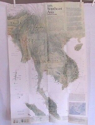 2009 National Geographic Map - Southeast Asia - 20x 31 inches