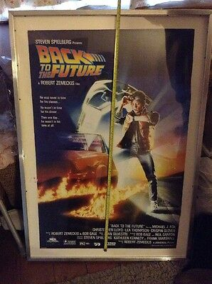 1985 Back to the Future ORIGINAL POSTER Michael J Fox SCI-FI Robert Zemeckis