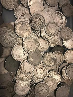 "Lot of 200 Liberty ""V"" Nickels - Nice lot"