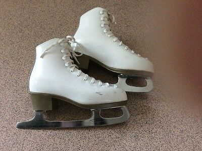Risport Ice Skates Size 35 / Uk 2 White Leather