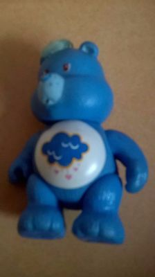 care bear grumpy bear blue clould belly 1980s toy vintage poseable