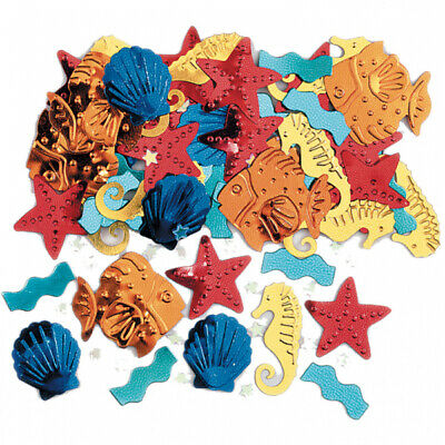 Sea Life Party Embossed Metallic Confetti - 14g