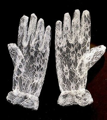 Confirmation Gloves White Lace
